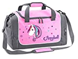 Mein Zwergenland Sporttasche in Rosa mit Namen, 38 L, Einhorn Beauty 60
