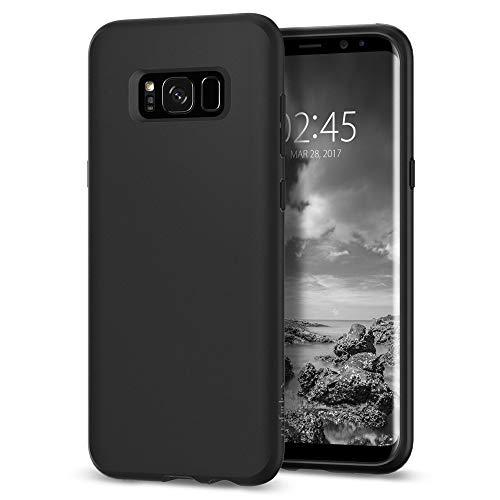 Spigen [Liquid Crystal] Samsung Galaxy S8 Hülle (565CS21613) Matte Silikon Handyhülle Passgenau Kratzfest Durchsichtige Schutzhülle Case (Schwarz)