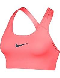 Nike Pro Classic Swoosh Bra Sujetador Deportivo, Mujer, Rojo (Lava Glow/Squadron