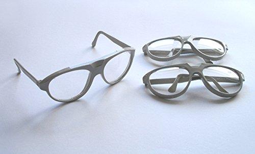 3 Stück Schutzbrillen, Schutzbrille aus stabilem Kunststoff / gut geeignet für Experimente, zum Einfügen eigener Filter