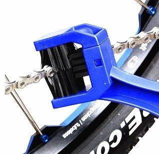 Der&Dies Fahrrad Reinigungsbürste / Fahrradreiniger / Kettenreiniger / Ketten-Reiniger für Fahrrad,Motorrad und andere Ketteninnenlager und Kettentriebbuchsen Pflege und Reinigung.(Blau) - 6