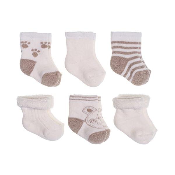 Jacobs Calcetines de recién nacido / Patucos bebé de algodón rizado con motivos ositos - Lote 6 pares (0-3 meses… 1