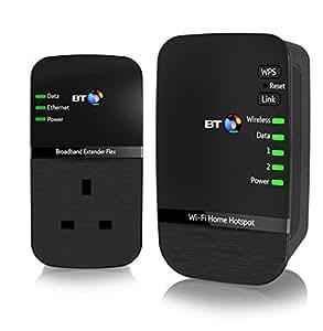 BT Wi-Fi Home Hotspot 500 Hotspot Powerline Adapter Kit - Black