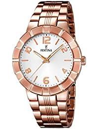 Festina F16714/1 - Reloj de pulsera mujer, acero inoxidable chapado