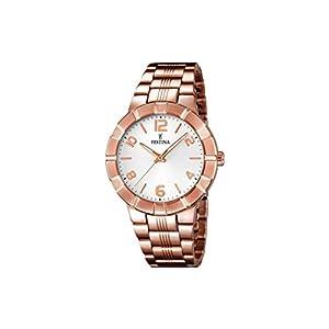 Festina F16714/1 – Reloj de Pulsera Mujer, Acero Inoxidable Chapado