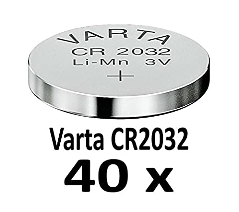 10 - 1000 Stk. (40 Stück) Variante frei wählbar Varta 2032 Knopfzelle im NEMT Pack