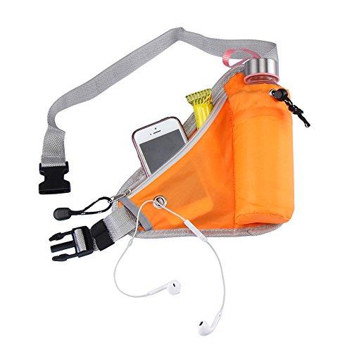 Sijueam Hüfttasche mit Verstellbarem Bauchgurt für Jogging Wandern Orange