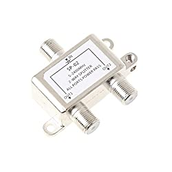 Segolike 2 Way Coax Cable Splitter Coaxial Cable TV Antenna Satellite Signal Split