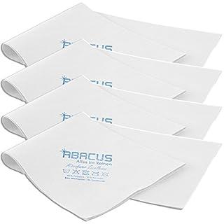 ABACUS MFT Excellence White 4X Microfasertuch (7008) - Microfaser Mikrofaser Tuch Tücher Glastuch Spiegeltuch Streifenfrei Tuch