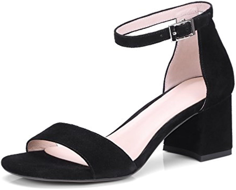 Donyyyy Femmina tacco alto scarpe con tacco ruvida sandali,nero,trentacinque sandali,nero,trentacinque sandali,nero,trentacinque | marchio  d0a80e