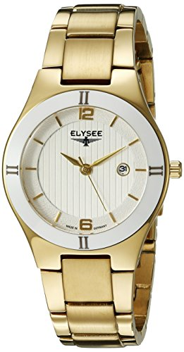 ELYSEE WOMEN'S MYRA 31MM STEEL BRACELET GOLD PLATED CASE QUARTZ WATCH 33044