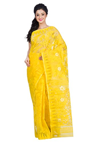 RLB Fashion Cotton Silk Saree (Rlb-00131_Yellow_Free Size)