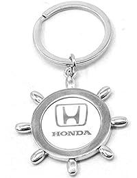 Faynci Sun Design With Honda Metal Logo High Quality Stainless Steel Key Ring Key Chain For Honda Lover