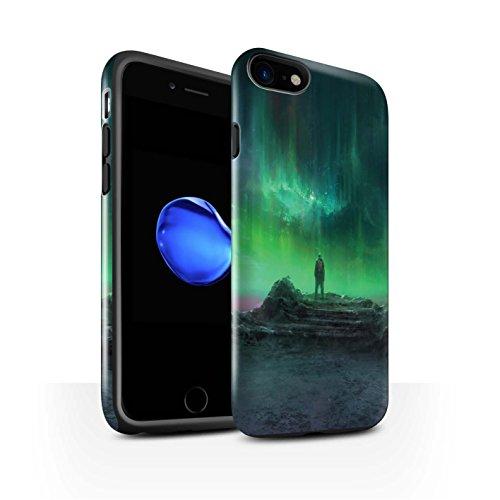 Offiziell Chris Cold Hülle / Glanz Harten Stoßfest Case für Apple iPhone 7 / Schmelzen Sonne Muster / Fremden Welt Kosmos Kollektion Polarlicht