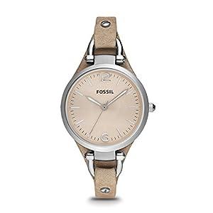 Reloj Fossil ES2830 de cuarzo para mujer con correa de piel, color beige de FOSSIL