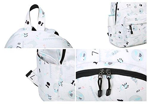 Numeri Artone Ape E Volpe Dimensioni Capienza Idrorepellenti Zaini Zaini Imbottiti Per La Scuola Con Scomparto Per Laptop Adatto 15 Notebook Blocco Blu Bianco