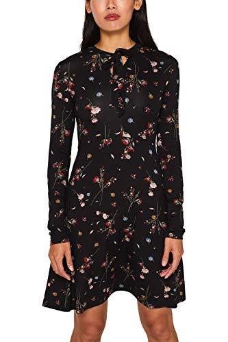 ESPRIT Damen 099EE1E020 Kleid, Schwarz (Black 2 002), Small (Herstellergröße: S)