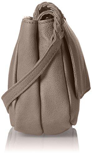 Liebeskind Berlin Damen Kawai Double Umhängetaschen, 6x18x14 cm Beige (dark stone 8441)