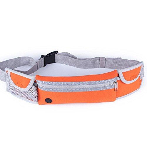 BUSL Wandern Hüfttaschen Outdoor-Sport-Männer und Frauen persönliche Telefontasche Stealth multifunktionale Fitnessgeräte Lauf Orange