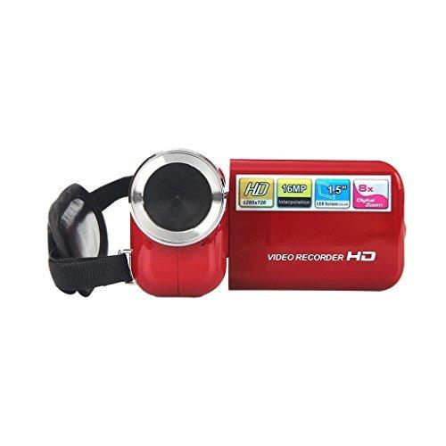 "GOTD DV180 1.5"" TFT 16MP 8X Digital Zoom Video Camcorder Camera HD DV, Red"