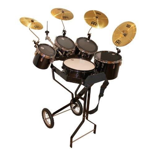 Schlagzeugwagen mit Snare, 4 Toms, Hi-Hat Halterung, 4 Becken