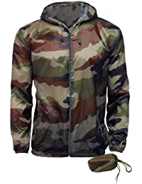 Camouflage Lightweight Camo Cagoule Rain Jacket In A Bag - Pac A Way