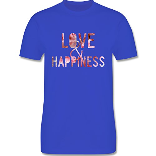 Statement Shirts - Love & Happiness Pink - Herren Premium T-Shirt Royalblau