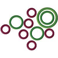 KnitPro 10801 Maschenmarker Packung mit 50 Stück, Kunststoff, grün/lila, 11 x 5 x 1 cm