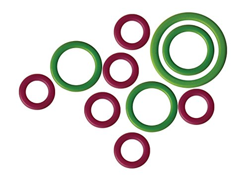 chenmarker Packung mit 50 Stück Maschenmarkierer, Kunststoff, grün/lila, 11x5x1 cm, Einheiten ()