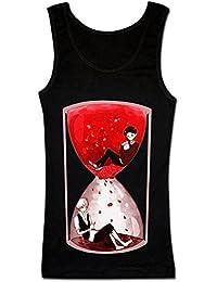 Red Sand Clock Design Women's Tank Top Shirt