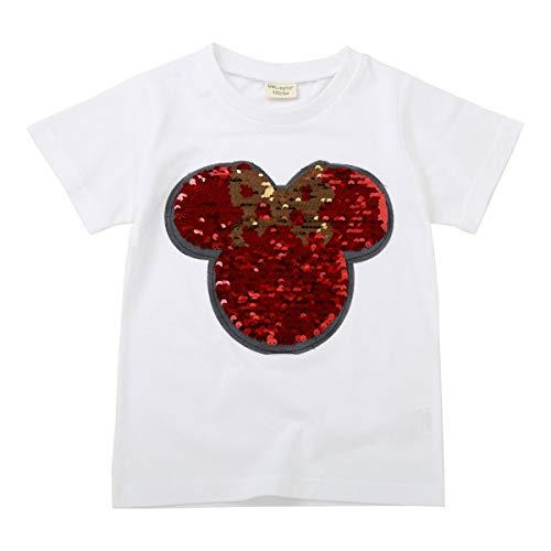 Pailletten-T-Shirt für Kinder, Variable Fantasie, Cartoon-Mickey-Mouse-Batman-T-Shirt (140, FM9938-2)