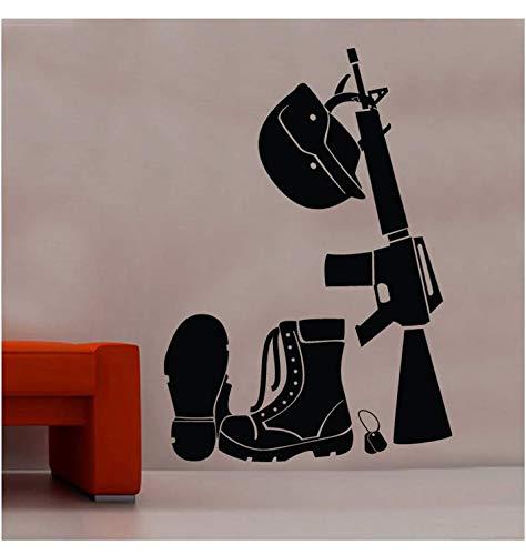 Soldat Kostüm Wandaufkleber Militär Dekoration Junge Vinyl Kunst Aufkleber Kinderzimmer Heimtextilien 58x40 cm