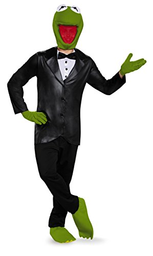 Kostüm Der Kermit Frosch - Disguise Deluxe Kermit The Frog Adult Fancy Dress Costume X-Large