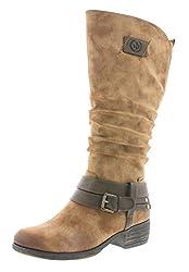 Rieker Damen Klassische Stiefel 93158,Frauen Boots,Langschaftstiefel,Blockabsatz 4cm,REH/Nubia, EU 37