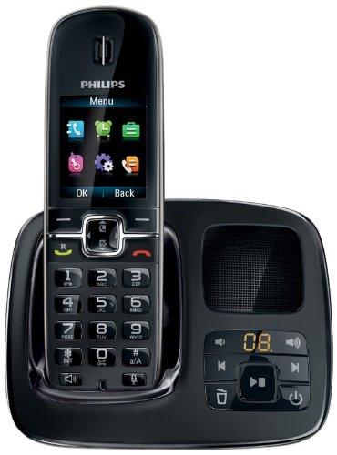 Philips CD496schnurloses Telefon mit Anrufbeantworter, schwarz
