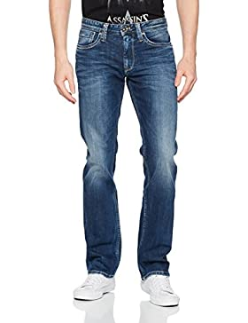 Pepe Jeans Herren Jeans Kingston Zip Pm Blau (Denim_3Z), W34 (Herstellergröße: 34)