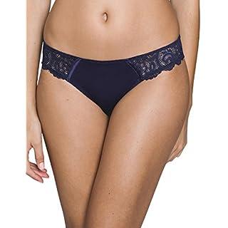 Maison Lejaby 13863-444 Women's Gaby Midnight Blue Lace Briefs Knickers Bikini Large