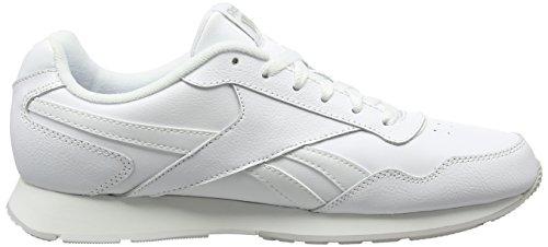 Reebok Herren Royal Glide Turnschuhe, Schwarz Blanco  (White / Steel / Reebok Royal)