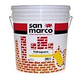 Idropittura murale al quarzo bianca per esterno San Marco 5 kg.Specifica per muri all'esterno o fondo per vernici decorative quarzo