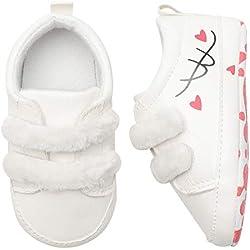Xinantime Chaussures Bébé, Toddler Bébé Nouveau-né Filles Garçons Coeur Impression Graffiti Chaussures à Semelle Souple Chaussure