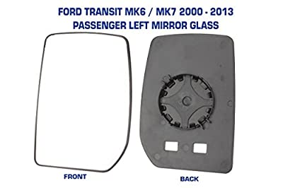 Transit Mirror Glass MK6 & MK7 2000 - 2013 Manual Not Heated Passenger Side Ford - inexpensive UK light shop.