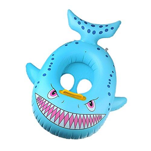 MagiDeal Baby Kinder Niedlicher Hai-Form Schwimmhilfen Schwimmen Ring 2-4 Jahre Aufblasbares Kinderboot für Wasserspaß in See Meer Pool Wasser Sommer Schwimmbad - Blau