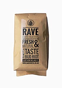 Rave Coffee - Swiss Water Blend Decaffeinated - Fresh Roasted Coffee Beans - 1kg - Whole Bean