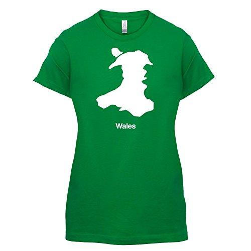 Wales Silhouette - Damen T-Shirt - 14 Farben Grün