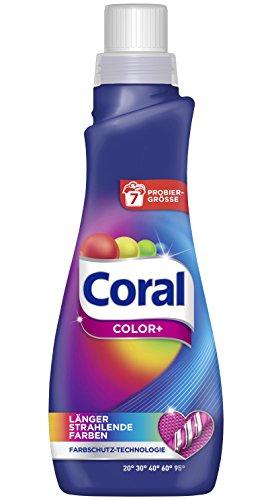 Coral flüssig Color+ Vollwaschmittel, Probiergröße (7 Waschladungen)