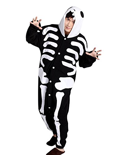 Moollyfox Kigurumi Pijamas Unisexo Adulto Traje Disfraz Adulto Animal Pyjamas Cráneo L