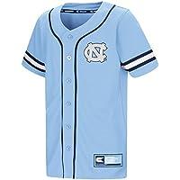 "North Carolina Tarheels NCAA ""Play Ball"" Youth Jeunes Button Up Baseball Jersey Maillot"