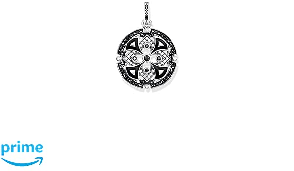 Red Enamelled PE786-341-7 Blackened Black Thomas Sabo Unisex Pendant Asian Ornaments 925 Sterling Silver