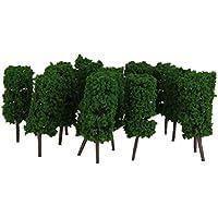 50 Stk. Grüne Cyclinder Baum Modellbahn Parklandschaft 1: 200