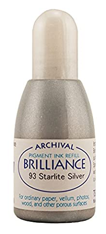 Brilliance Refill Inks Tsukineko Re-Inker, Starlite Silver